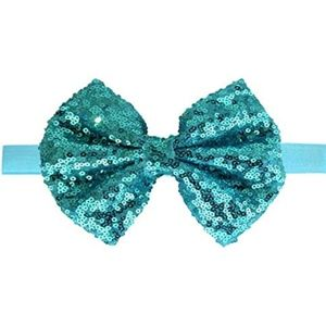 Other - Light blue 5 inch sequin bow headband